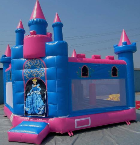 3 year old inside airborne jumping castle